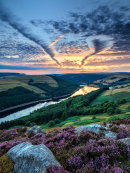 Afterglow over Ladybower