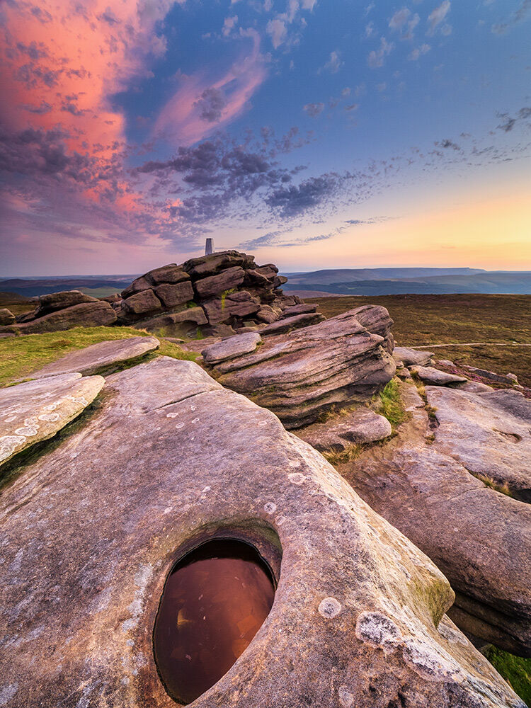 Back Tor afterglow