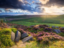 Summer sunset over Burbage millstones