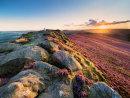 Summer sunset on Win Hill 2
