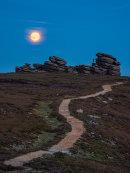 Moonrise over Wheel Stones