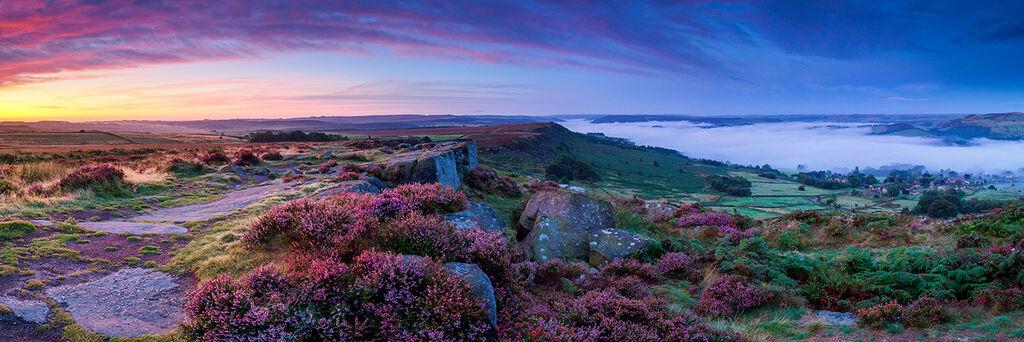Curbar dawn panoramic