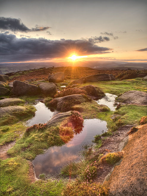 Sunset at Higger Tor