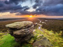 Sunrise over Ox Stones on Burbage moor