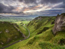 Winnats Pass at sunrise