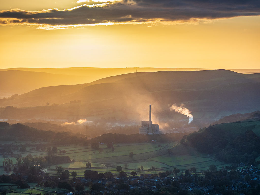 Hope Valley dawn (cement works)