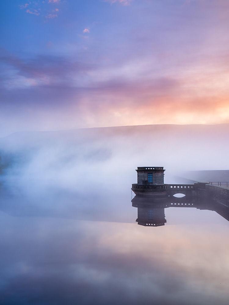 Dawn mist over Ladybower