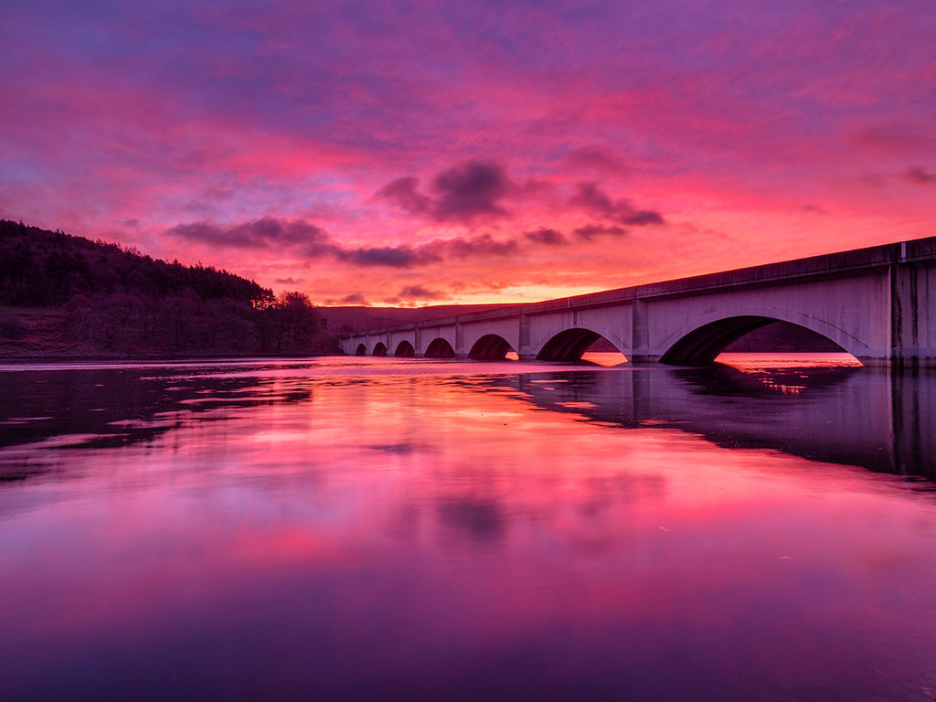 Pre dawn light over Ladybower