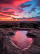 Stanage afterglow