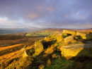 Winter light over Stanage