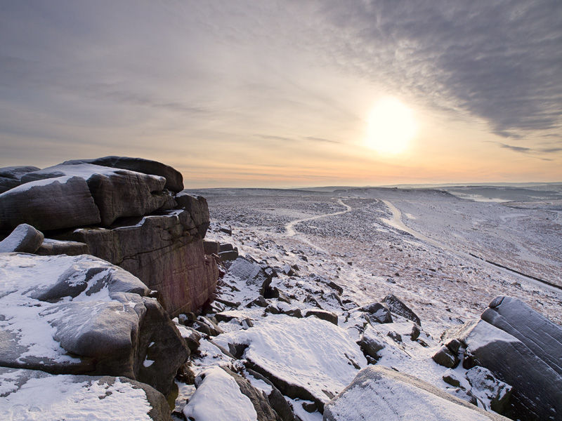 Upper Stanage in winter