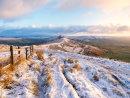 Mam Tor ridge in winter.