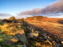 First light over Higger Tor from Carl Wark
