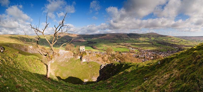 Peveril Castle and Castleton
