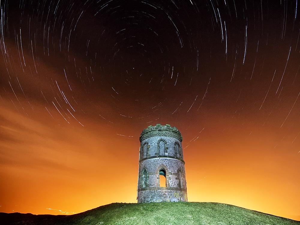 Star trail at Solomon's temple - Buxton