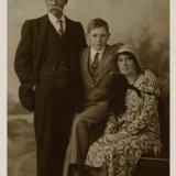 GEORGE TREE, CONSTANCE & GEORGE JNR c.1931