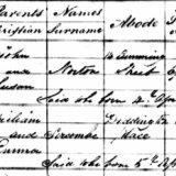 HENRY AUTON GIFFARD SERCOMBE - BAPTISM 1838