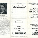 IVOR PANKHURST COUNCIL ELECTION