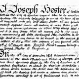 WILL OF JOSEPH HESTER 1833