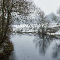 snow on the river avon