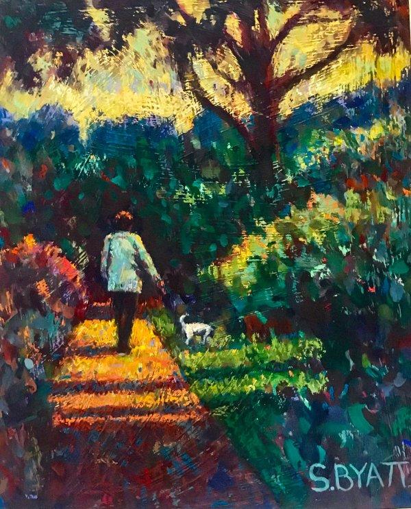 Lorna with Jack - Abbottsbury Gardens - Dorset