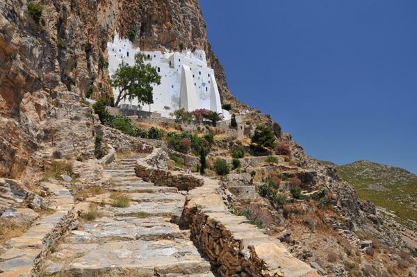 Steps to Hozoviotisa Monastery, Amorgos