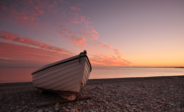 Budleigh Boat at Sunset