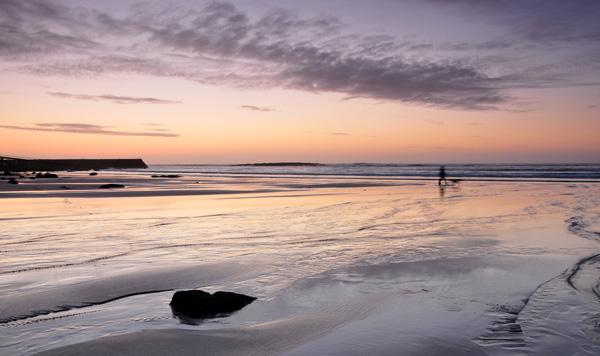 An Evening Walk on the Beach