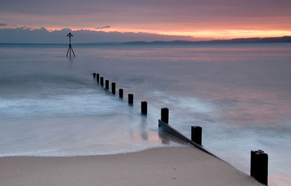 Exmouth Beach at Sunset