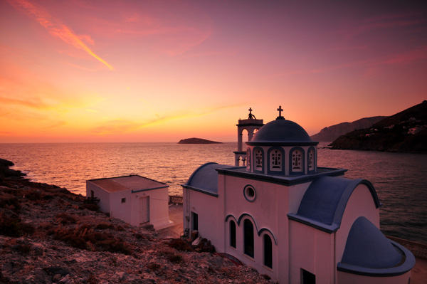 Agios Athanassios at Sunset