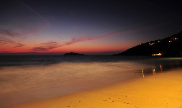 Evening Beach Light