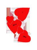 I love you hearts