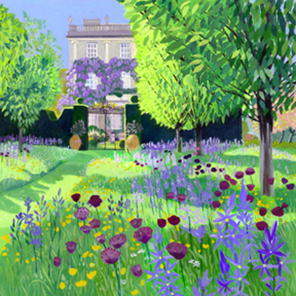 Highgrove House from the Wildflower Meadow