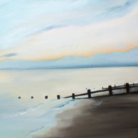 """Ferring beach on a winter afternoon. 2"" Available for Sale at 'Inspired by the Sea' next to Worthing Pier."