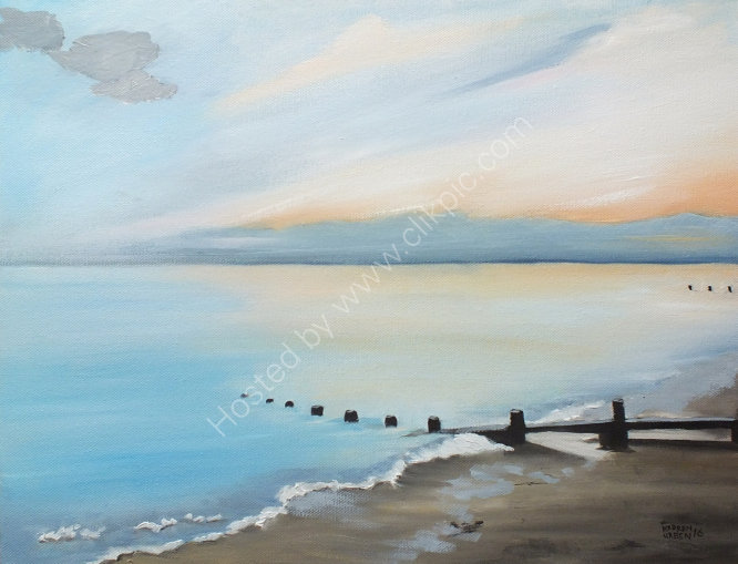 "SOLD ""Ferring beach on a winter afternoon."