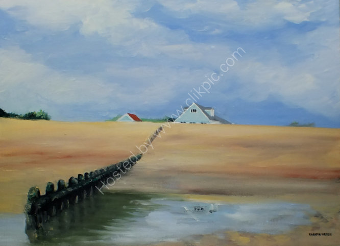 """Bluebird cafe from the beach"" SOLD"