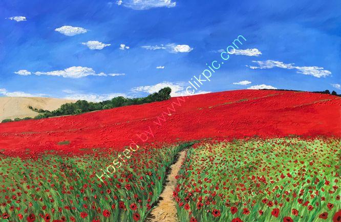 """""""Sompting Poppy fields, Sussex"""""""