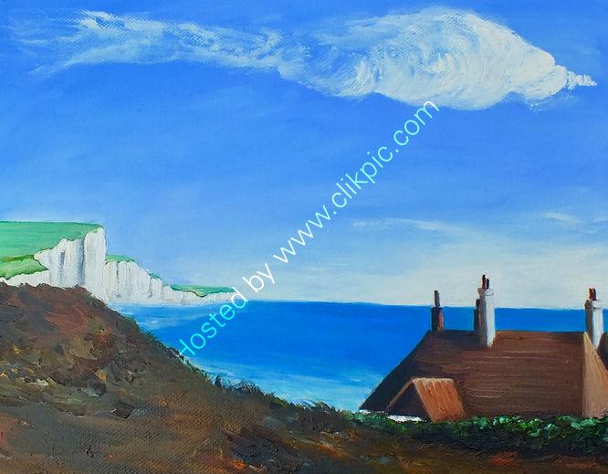 Coastguards Cottage at Cuckmere Haven.East Sussex