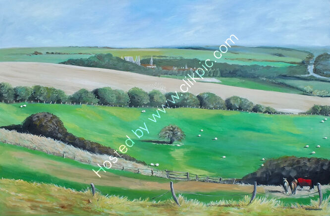 """""""Across the fields to Lancing College"""""""