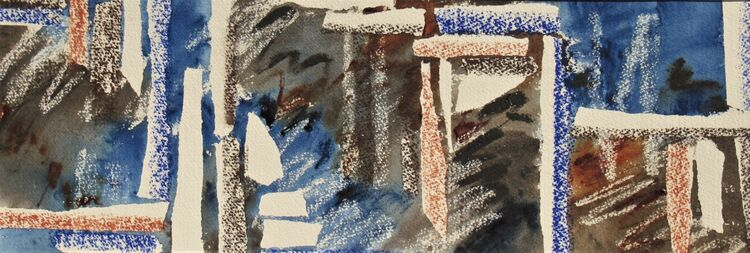Paradox mixed media 20x56 on Saunders Waterford paper