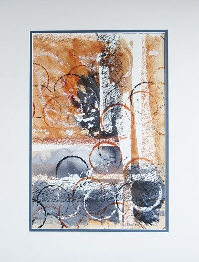 Bubbling Up 28x37cm, mounted 41x51cm.