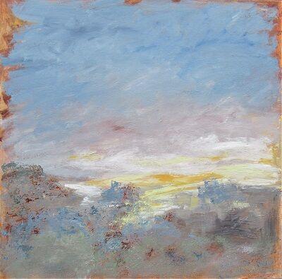 Quietude/Twilight 90x90x4 acrylic on canvas