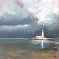 Calm Before the Storm 60x60cm.