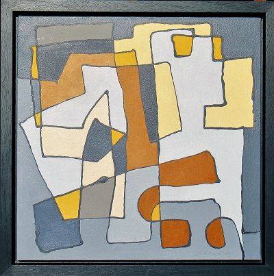wandering About framed 57x57x4