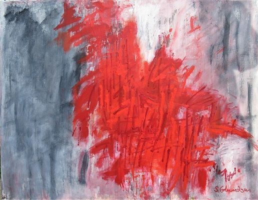 Seeing Red 70x90cm.