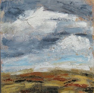 Autumn Equinox 50x50x4cm. mixed media