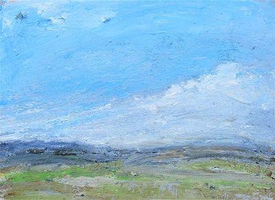 December landscape 29x40x2cm. acrylic