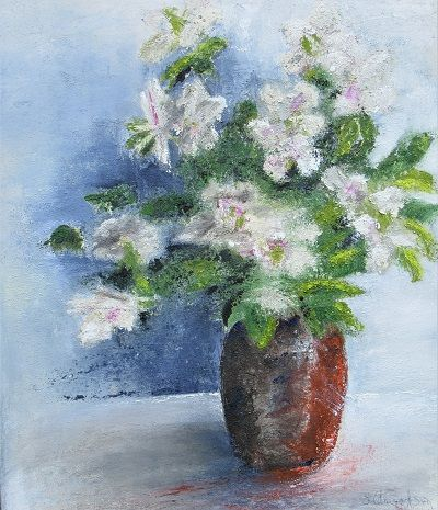 Flowers in a Vase 70x60x4cm.