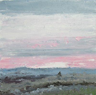 January -Sunrise 60x60 cm.