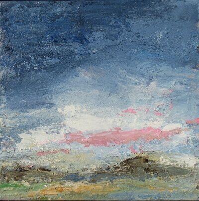 Evening- Pink Cloud 30x30cm. acrylic